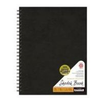 Iron Oxide Art-pentalic-black-14-x-11-70-lb-traditional-sketchbook-wirebound