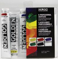 Iron Oxide Art Golden Heavy Body Acrylic Introductory Set