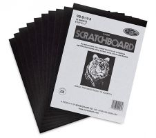Iron Oxide Art-Scratch-Board-Pad