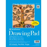 Iron Oxide Art-Strathmore-Drawing-Pad-40-sheets