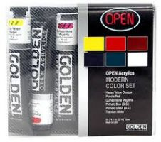 Iron Oxide Art Golden Modern Slow Drying Acrylic Set