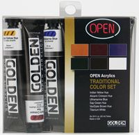 Iron Oxide Art Golden Traditional Colour Set