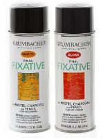 Iron Oxide Art Grumbacher Final Fixative Gloss and Matte