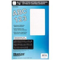 Iron Oxide Art-HeadLine-half-inch-White-Helvetica-Sticker-Letters