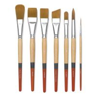 Iron Oxide Art Supplies-Princeton-stroke-golden-taklon-brushes