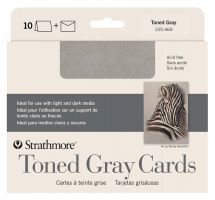 Iron Oxide Art Supplies-Strathmore-Toned-Grey-Cards-10pk