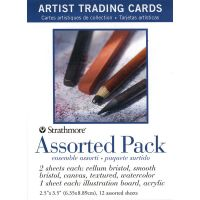 Iron Oxide Art-Strathmore-Assorted-Pack-Artist-Trading-Cards