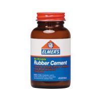 Iron Oxide Art-Elmers-Rubber-Cement