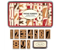 Iron Oxide Art-Vintage-Numbers-Rubber-Stamps