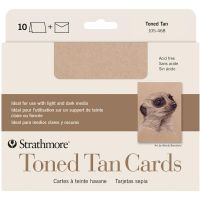 Iron Oxide Art Supplies-Strathmore-Toned-Tan-Cards-10pk